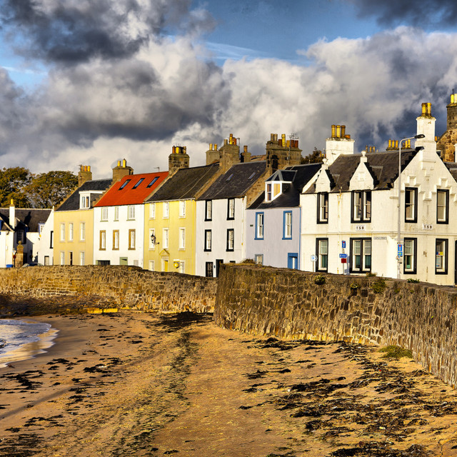 """cottages by the sea"" stock image"