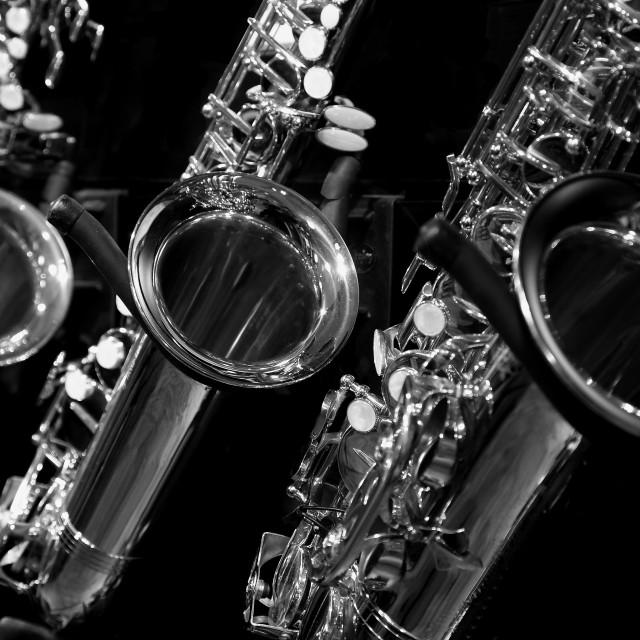 """Saxophone"" stock image"