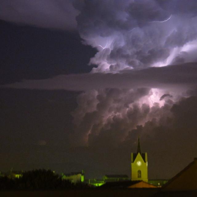 """Church Lightning"" stock image"