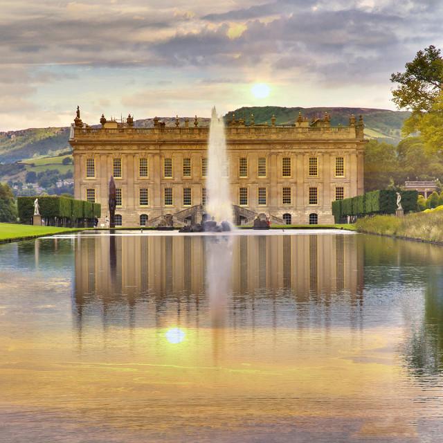 """Chatsworth House"" stock image"