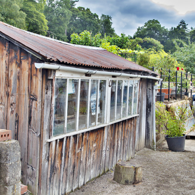 """Garden Shed"" stock image"