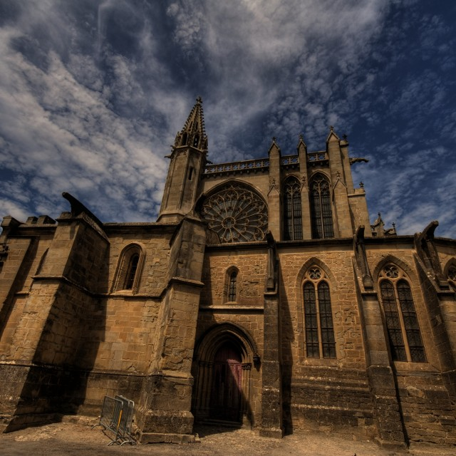 """carcassonne church"" stock image"
