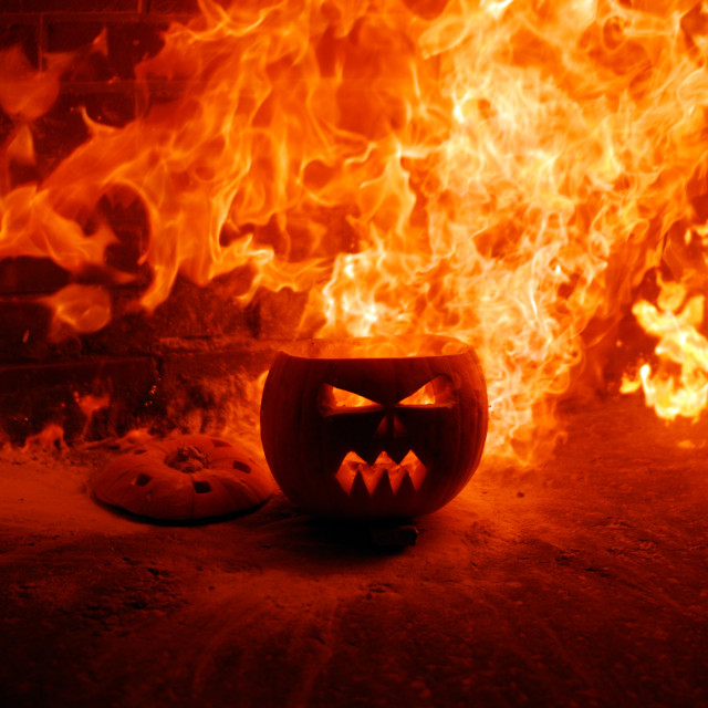 """Exploding Pumpkin"" stock image"