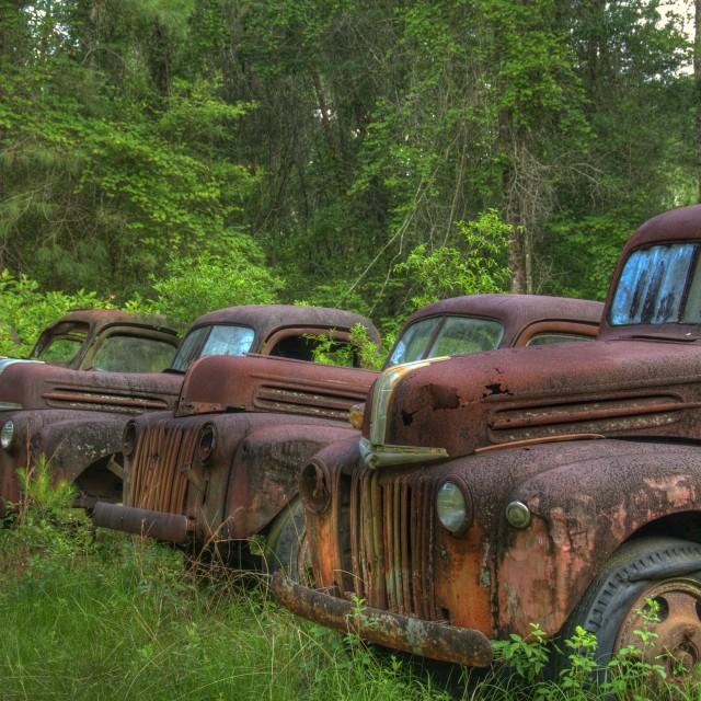 """Rusty Graveyard"" stock image"