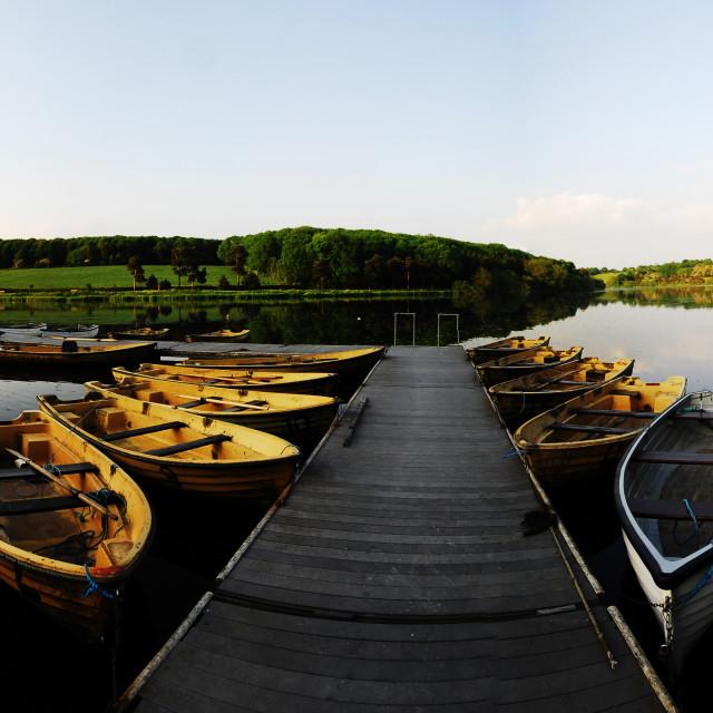 """""""Fishing Lake"""" stock image"""