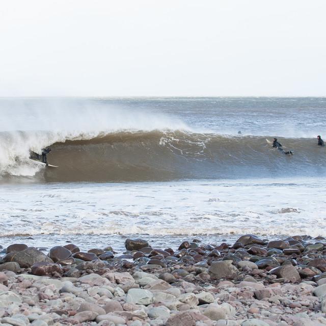 """Somerset Storm Surfer"" stock image"