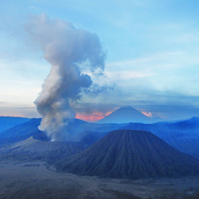 """Dawn at Mount Bromo"" stock image"