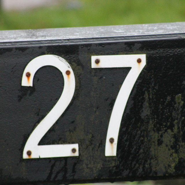 """Number Twenty Seven"" stock image"