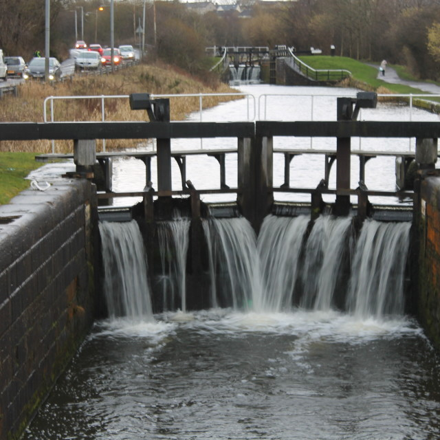 """Temple lock, Forth & Clyde Canal 27"" stock image"
