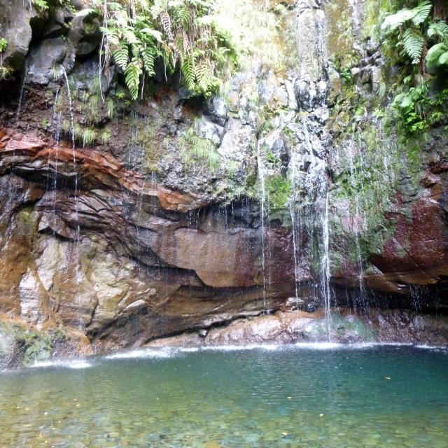 """Levada Waterfall"" stock image"