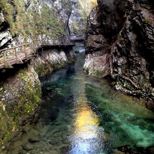 """Vintgar Gorge"" stock image"