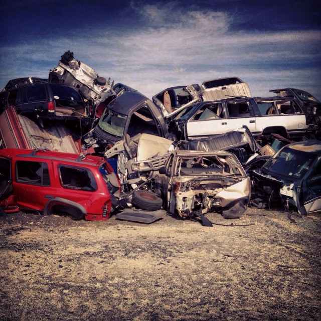 """Junk yard"" stock image"