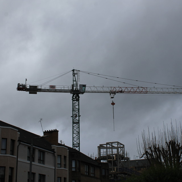 """Tower crane"" stock image"