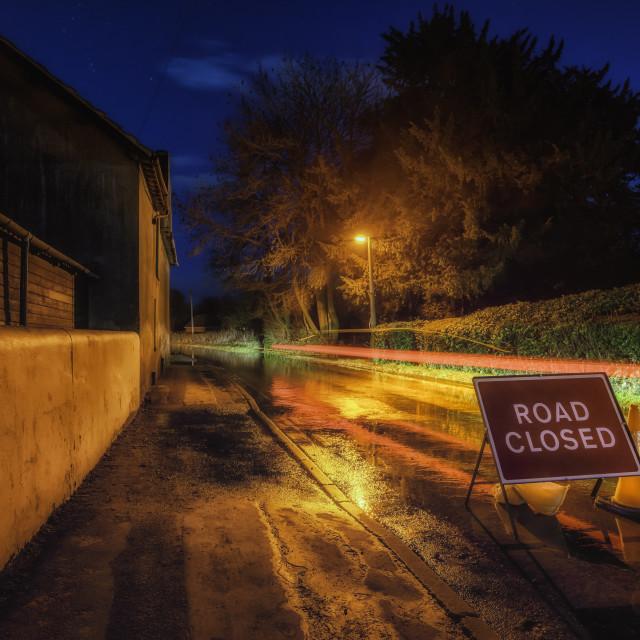 """Road Closed"" stock image"