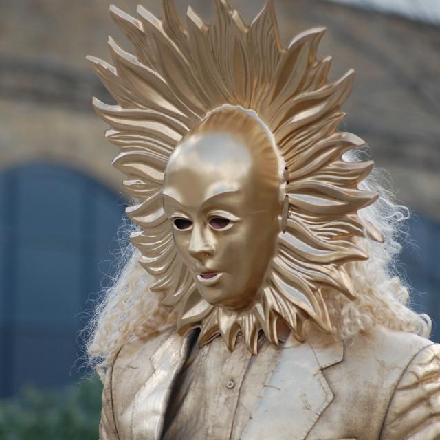 """Street performer - southbank- London"" stock image"
