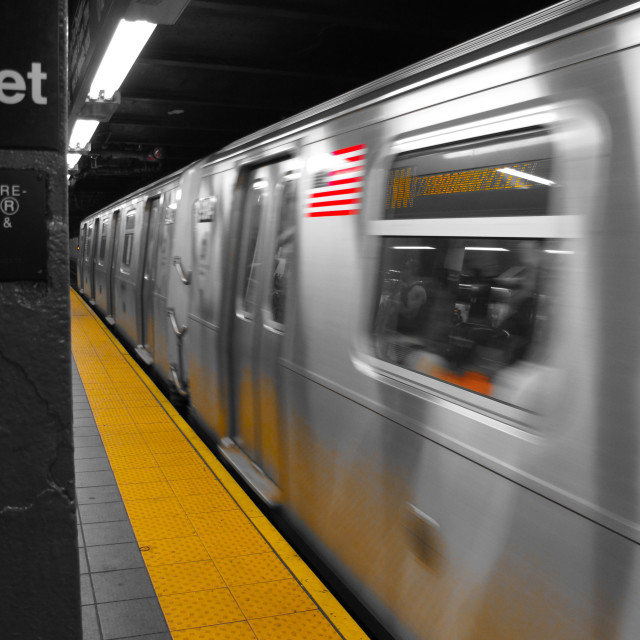 """New York Subway"" stock image"