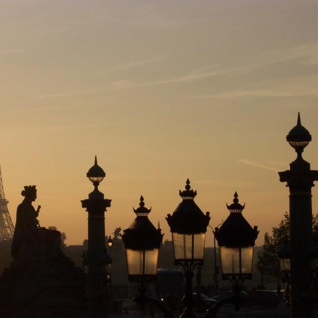 """""""Sunset in Paris"""" stock image"""