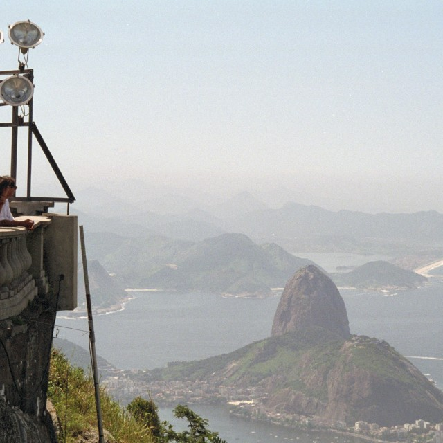 """Sugarloaf mountain from Corcovado"" stock image"