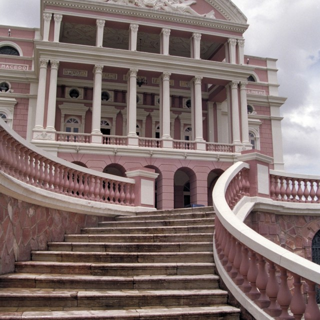 """Manaus Opera House front"" stock image"
