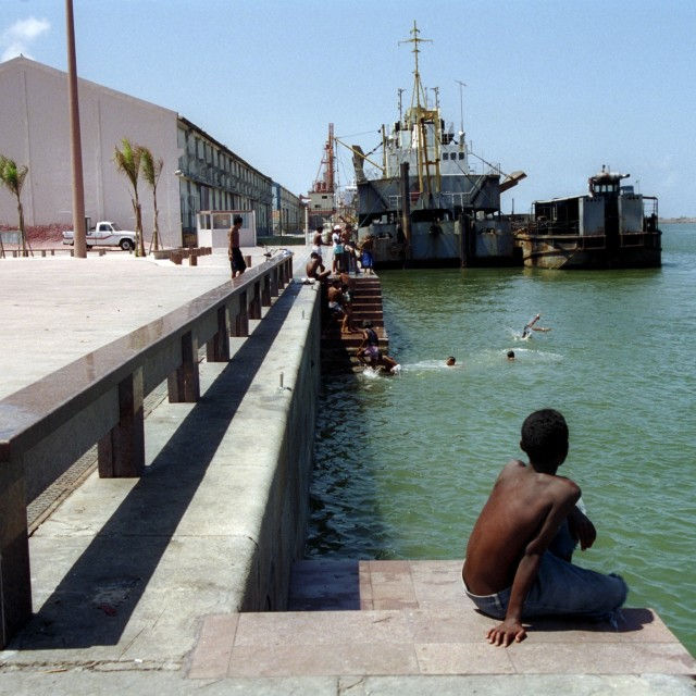 """Swimming in Recife"" stock image"