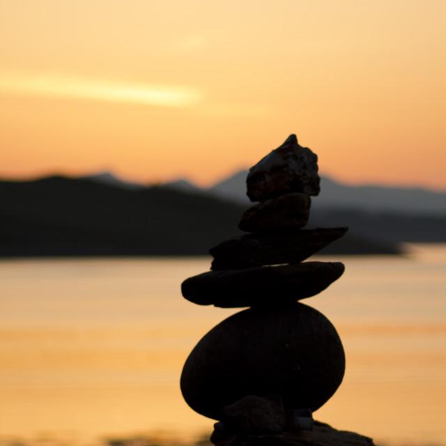 """Sunset Stones"" stock image"