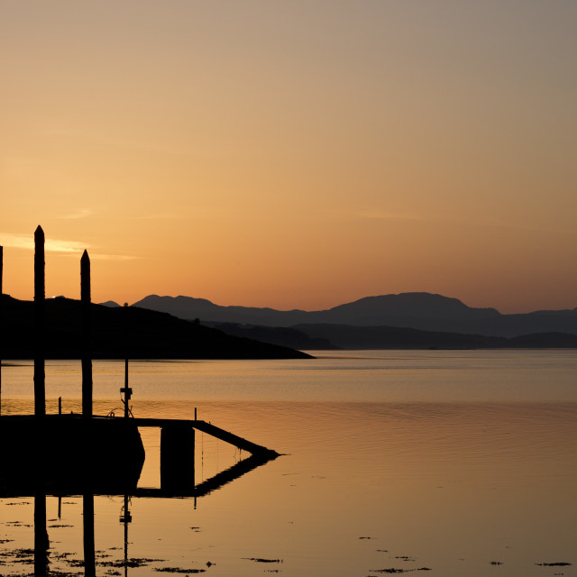 """""""Sunset Over Water"""" stock image"""