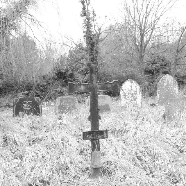 """Grave Yard Cross 2"" stock image"