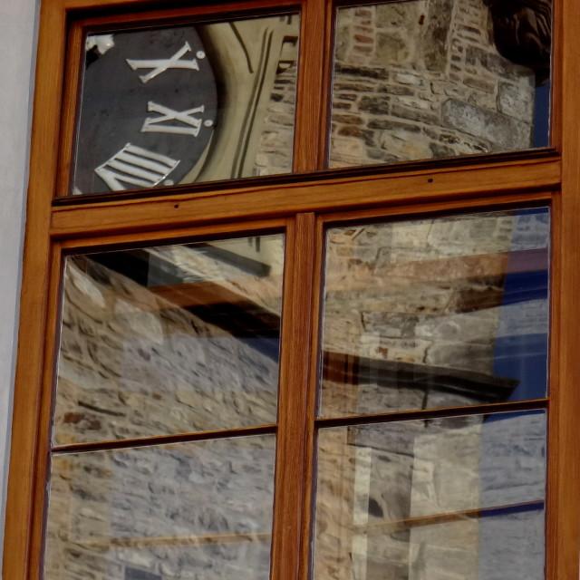 """Reflections of Prague"" stock image"