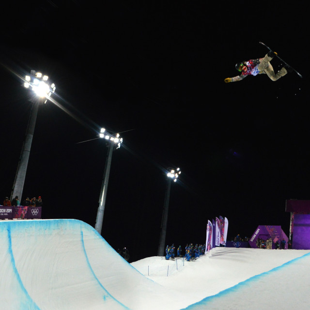 """Shaun White Halfpipe Final 2014"" stock image"