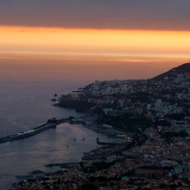 """Madeiran sunset"" stock image"