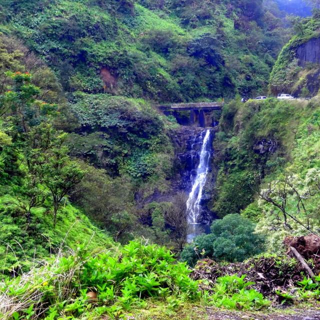 """Maui Waterfall"" stock image"