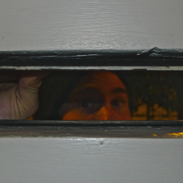 """""""Through the letterbox!!!"""" stock image"""