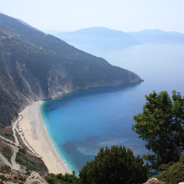 """""""Myrtos Beach, Kefalonia"""" stock image"""