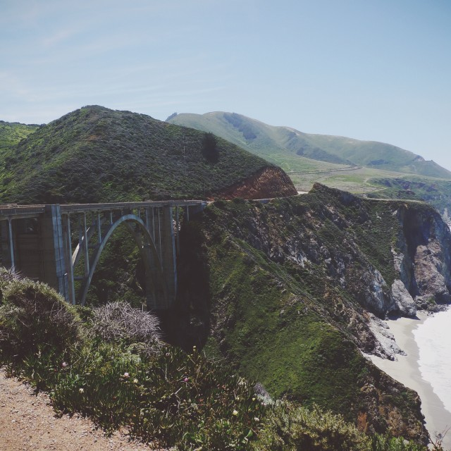 """Bixby Bridge"" stock image"
