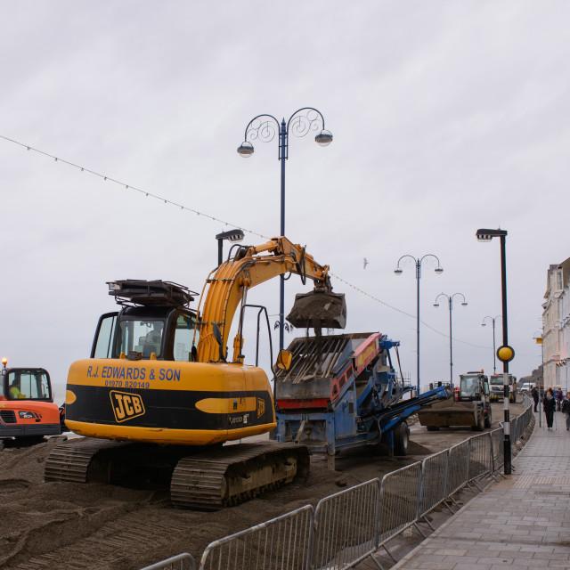 """""""storm damage repair Aberyswyth"""" stock image"""