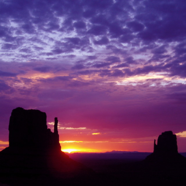 """Monument Valley @ Dawn"" stock image"
