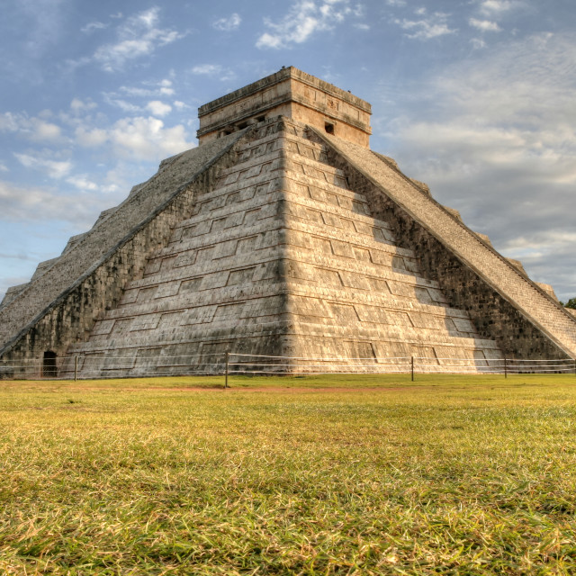 """Main Pyramid @ Chichen Itza, Yucatan, Mexico"" stock image"