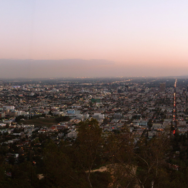 """Los Angeles Hollywood Sunset"" stock image"