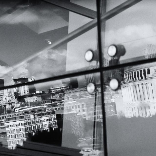 """Reflection of London"" stock image"
