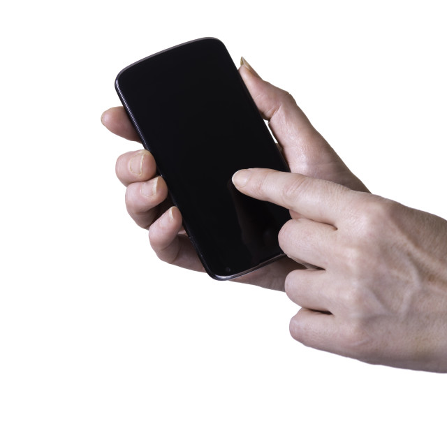"""""""mobile smartphone in hands"""" stock image"""