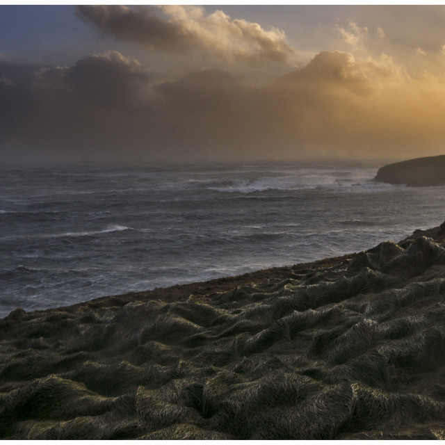 """""""Evening Storm, St.Annes Head"""" stock image"""