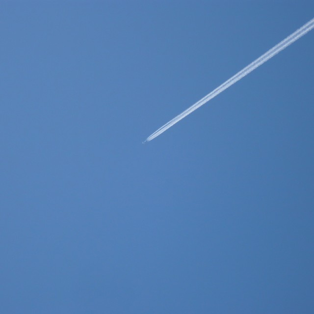 """Plane in the Cornish sky"" stock image"