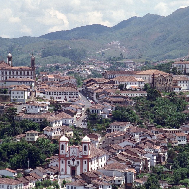 """Ouro Preto panorama"" stock image"