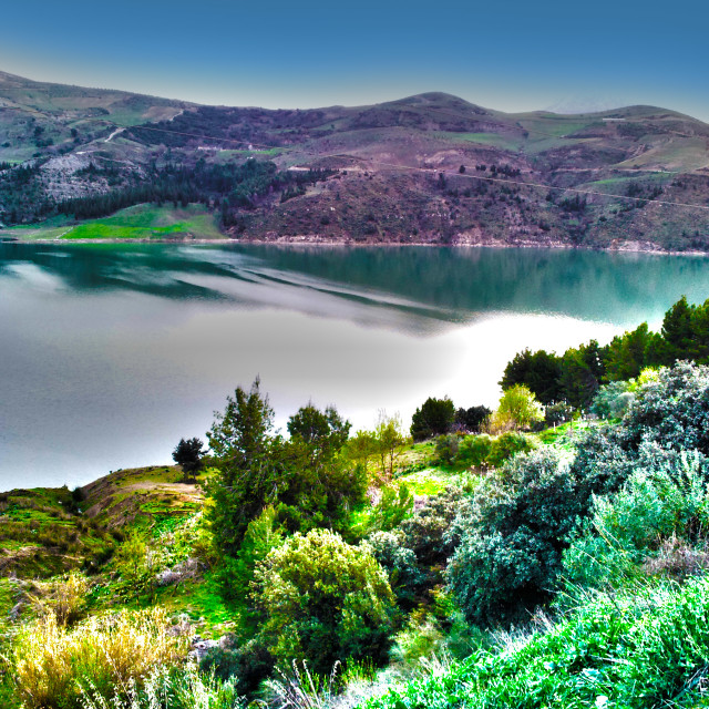 """lake KHERRATA"" stock image"