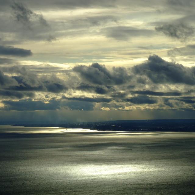 """Cloud over Lake Ontario"" stock image"