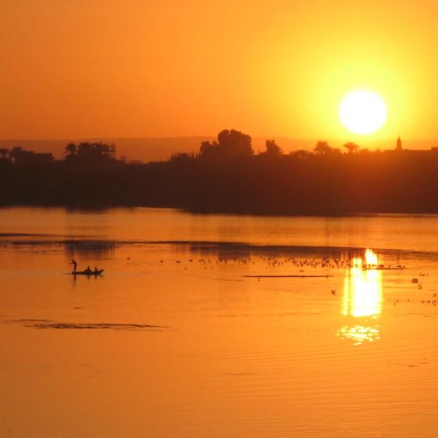 """""""Nile Sunset"""" stock image"""