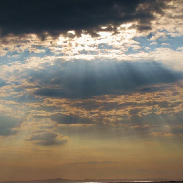 """""""Rays of Sunshine"""" stock image"""