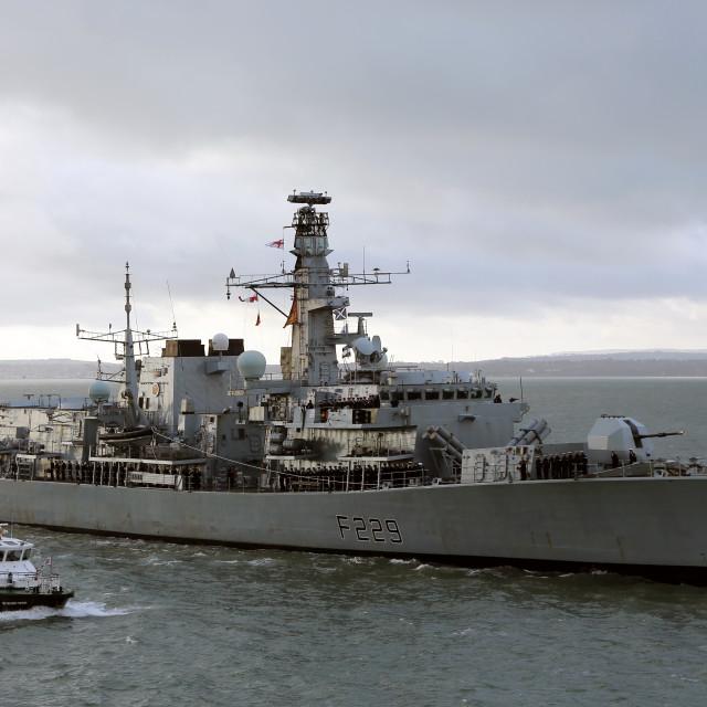 """HMS Lancaster"" stock image"
