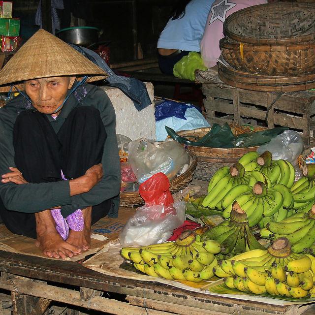 """Cold Vietnamese Market Seller"" stock image"