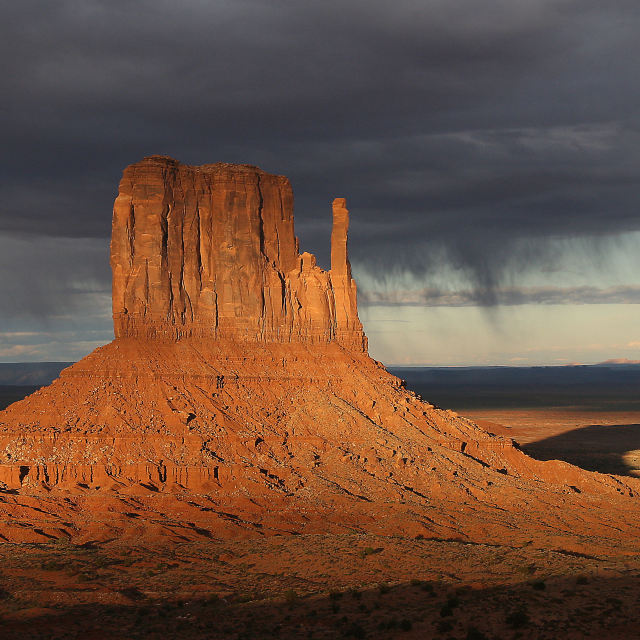 """Monument Valley Rain Storm"" stock image"